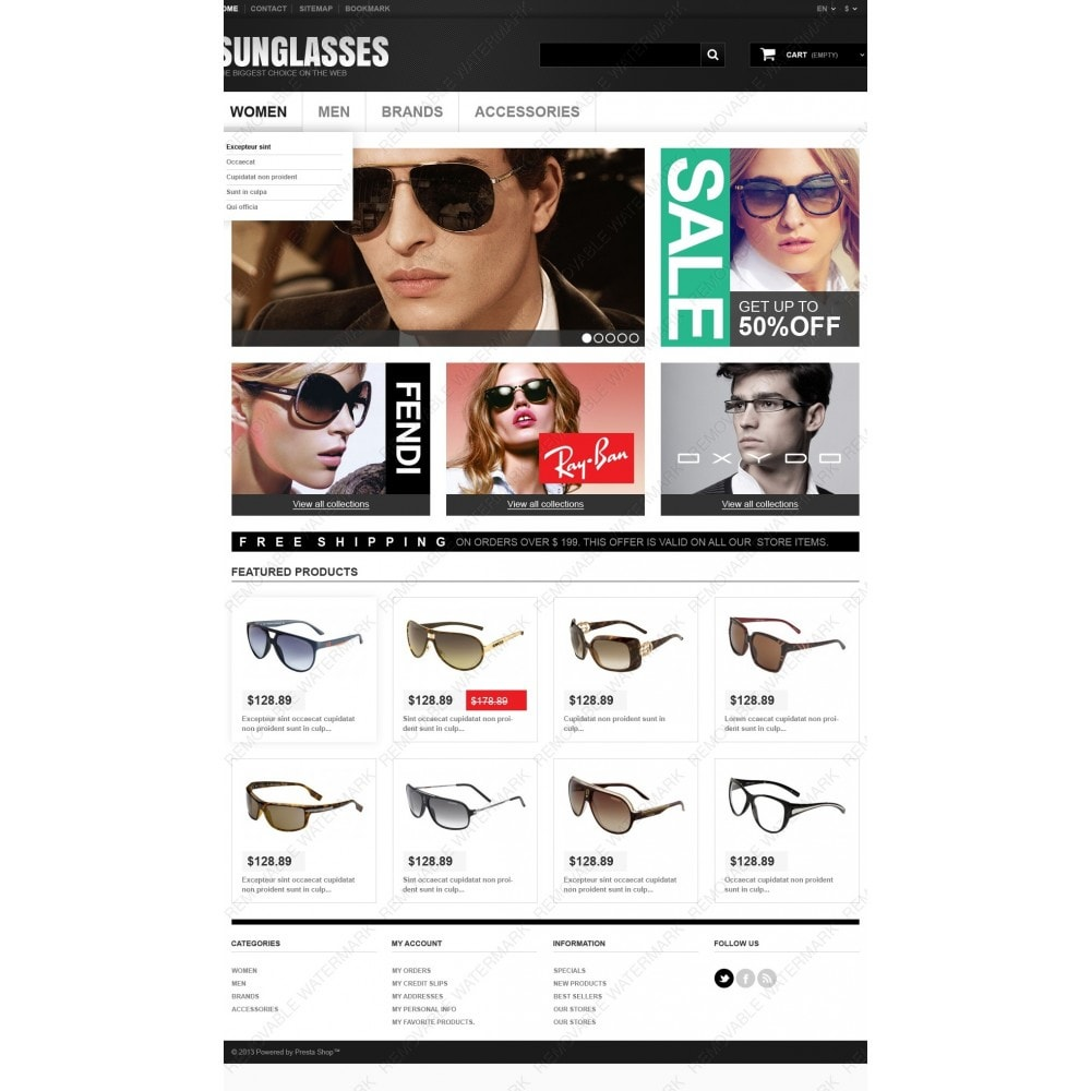 theme - Mode & Chaussures - Sunglasses Boutique - 4