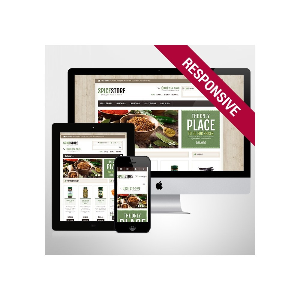 theme - Food & Restaurant - Responsive Spice Store - 1