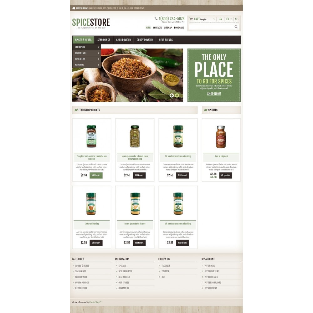 theme - Food & Restaurant - Responsive Spice Store - 2