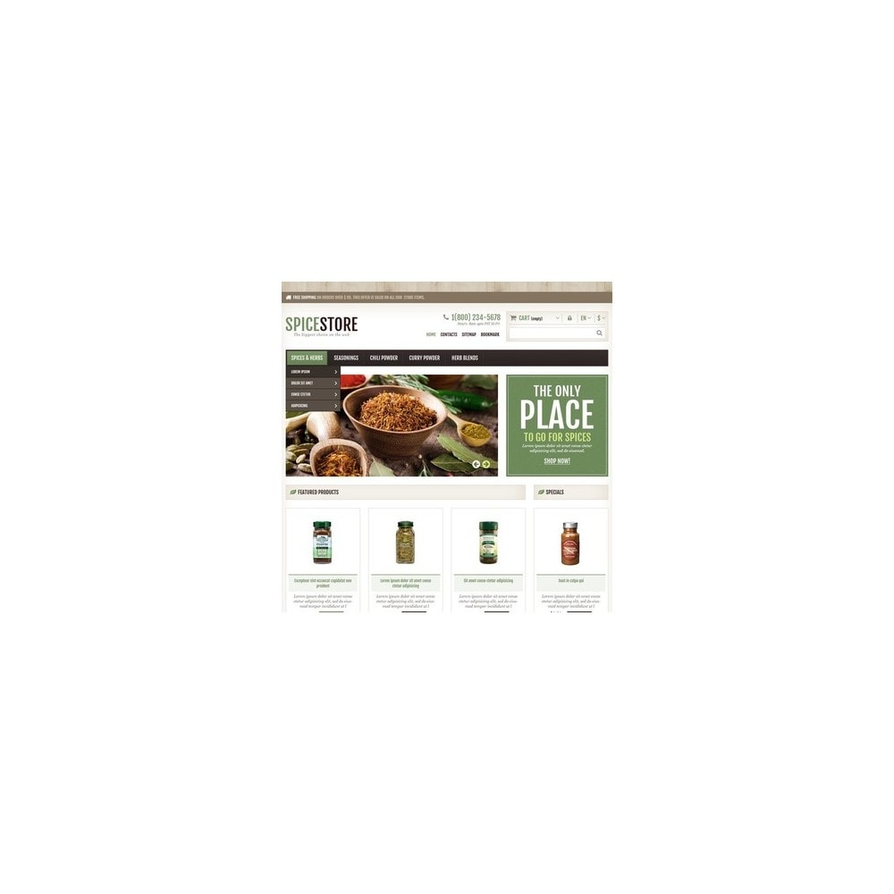 theme - Food & Restaurant - Responsive Spice Store - 3
