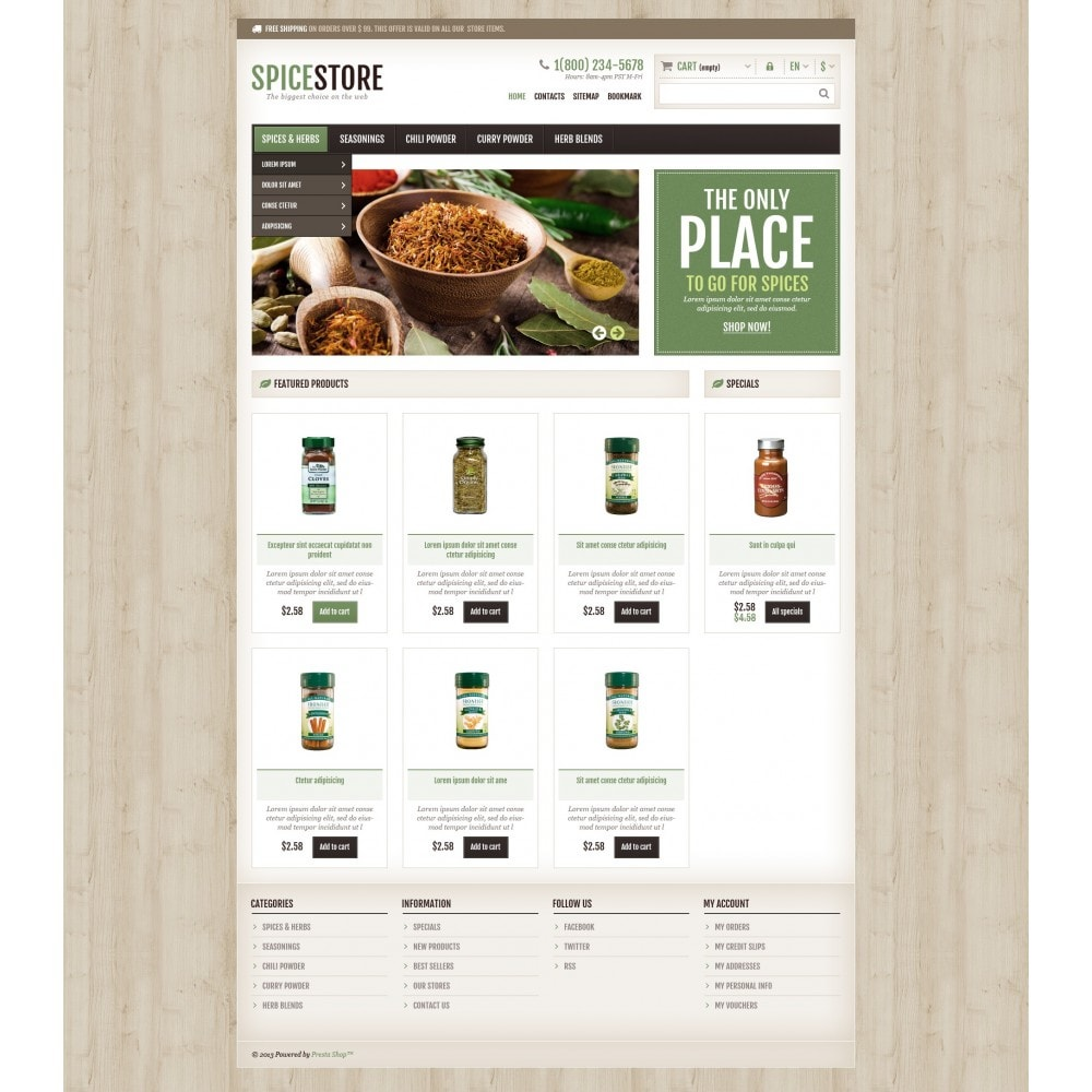 theme - Food & Restaurant - Responsive Spice Store - 5