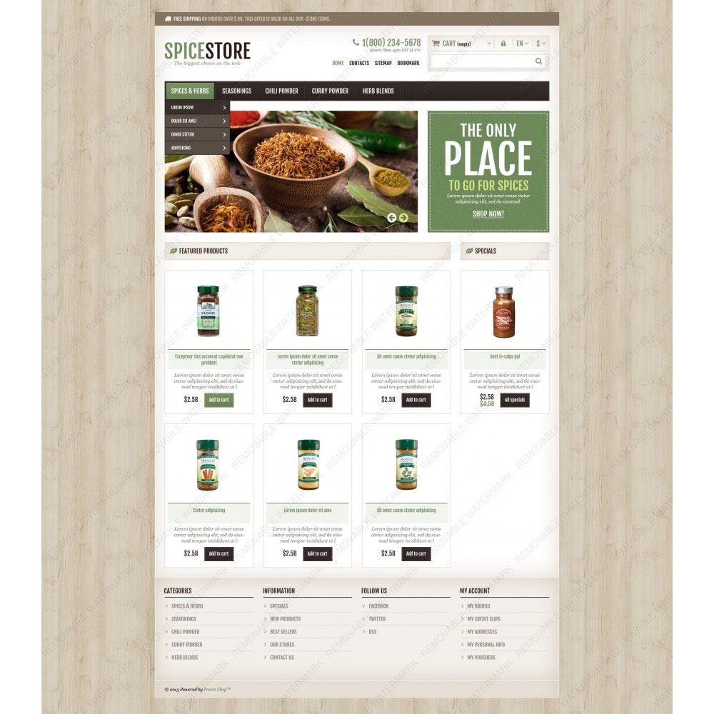 theme - Food & Restaurant - Responsive Spice Store - 6