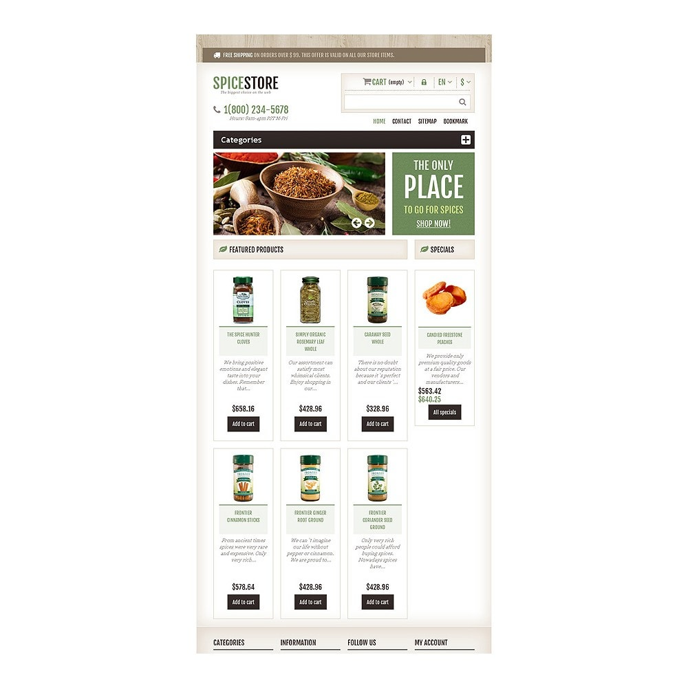 theme - Food & Restaurant - Responsive Spice Store - 8