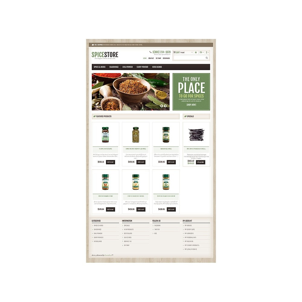 theme - Food & Restaurant - Responsive Spice Store - 11