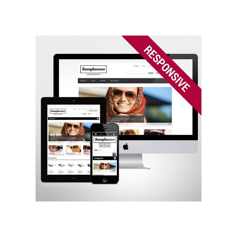 theme - Moda & Calzature - Responsive Sunglasses Store - 1