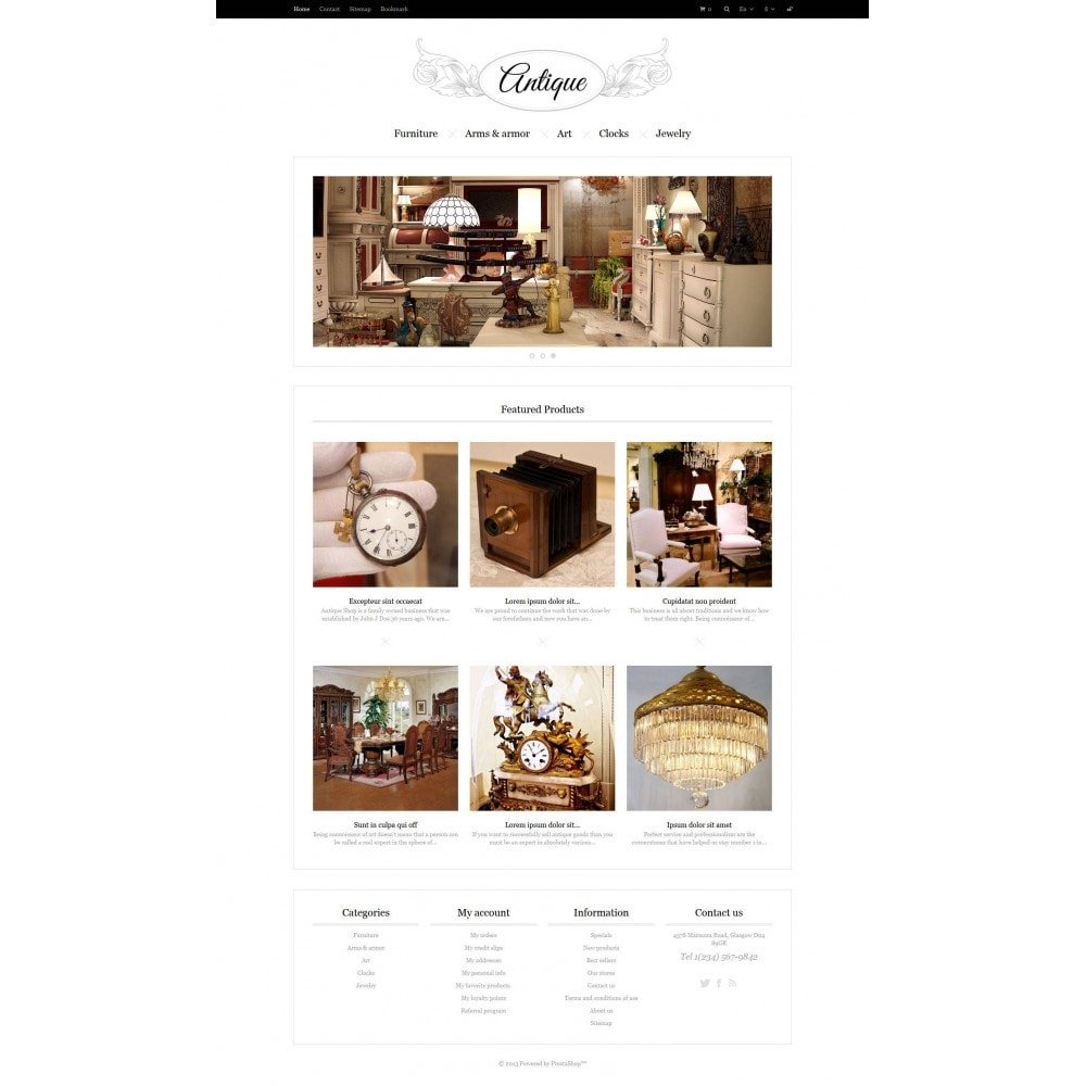 theme - Casa & Jardins - Responsive Antiques Store - 5