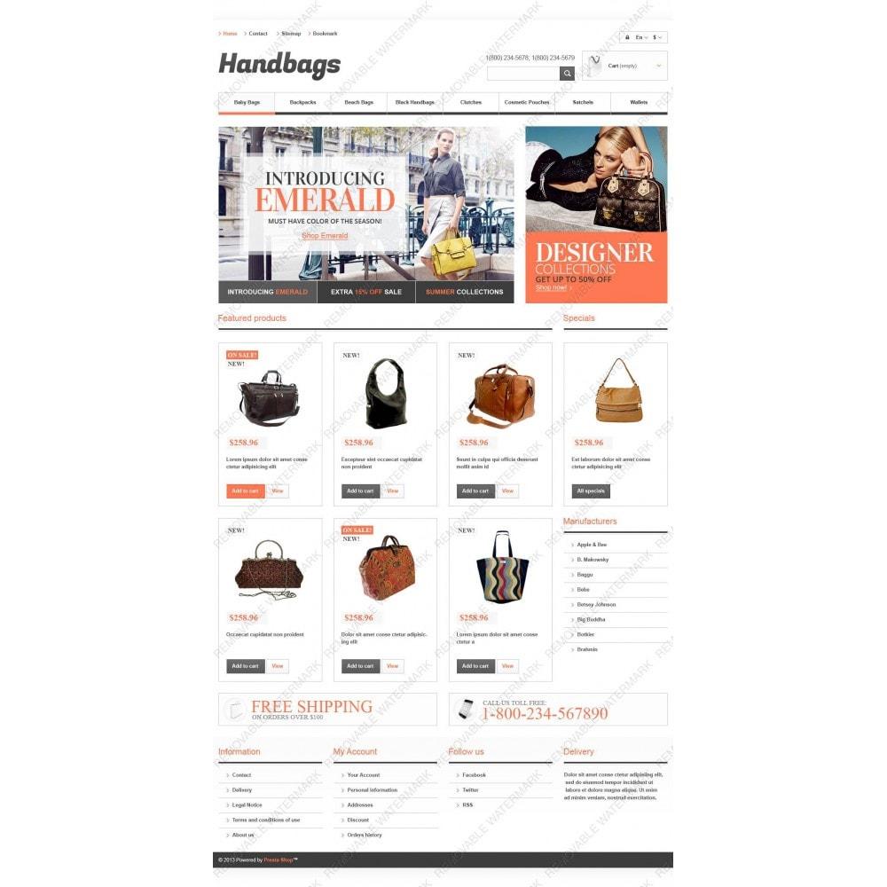 theme - Мода и обувь - Responsive Handbags Boutique - 3