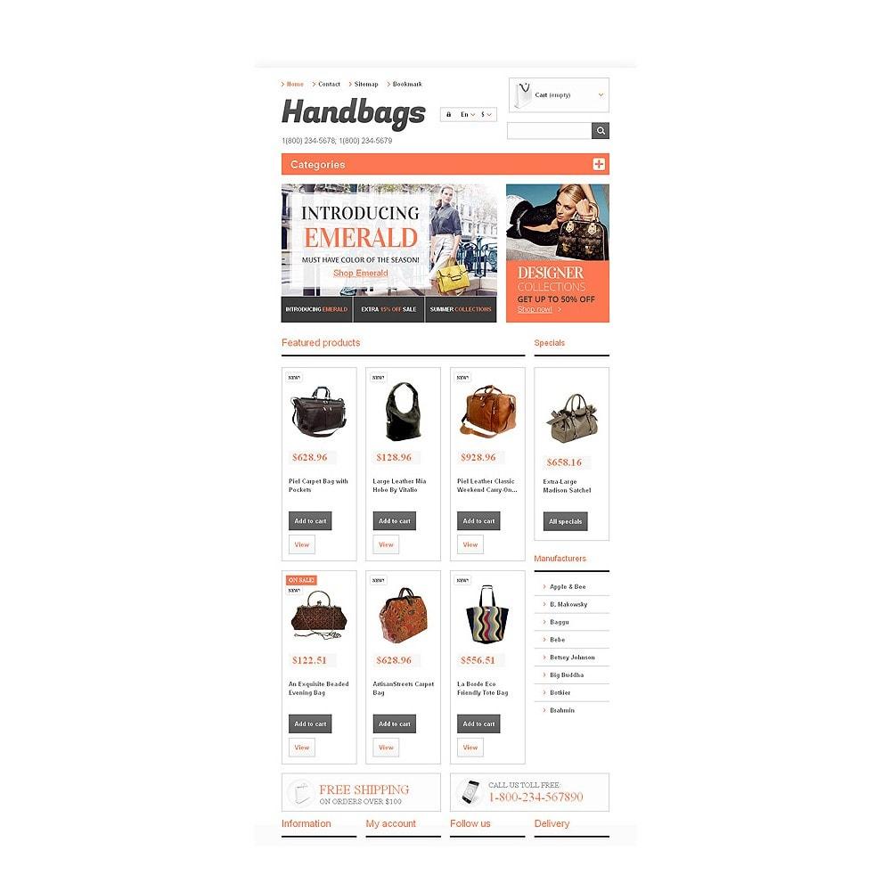theme - Мода и обувь - Responsive Handbags Boutique - 7