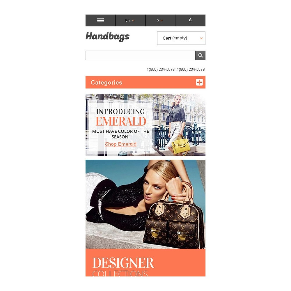 theme - Мода и обувь - Responsive Handbags Boutique - 8