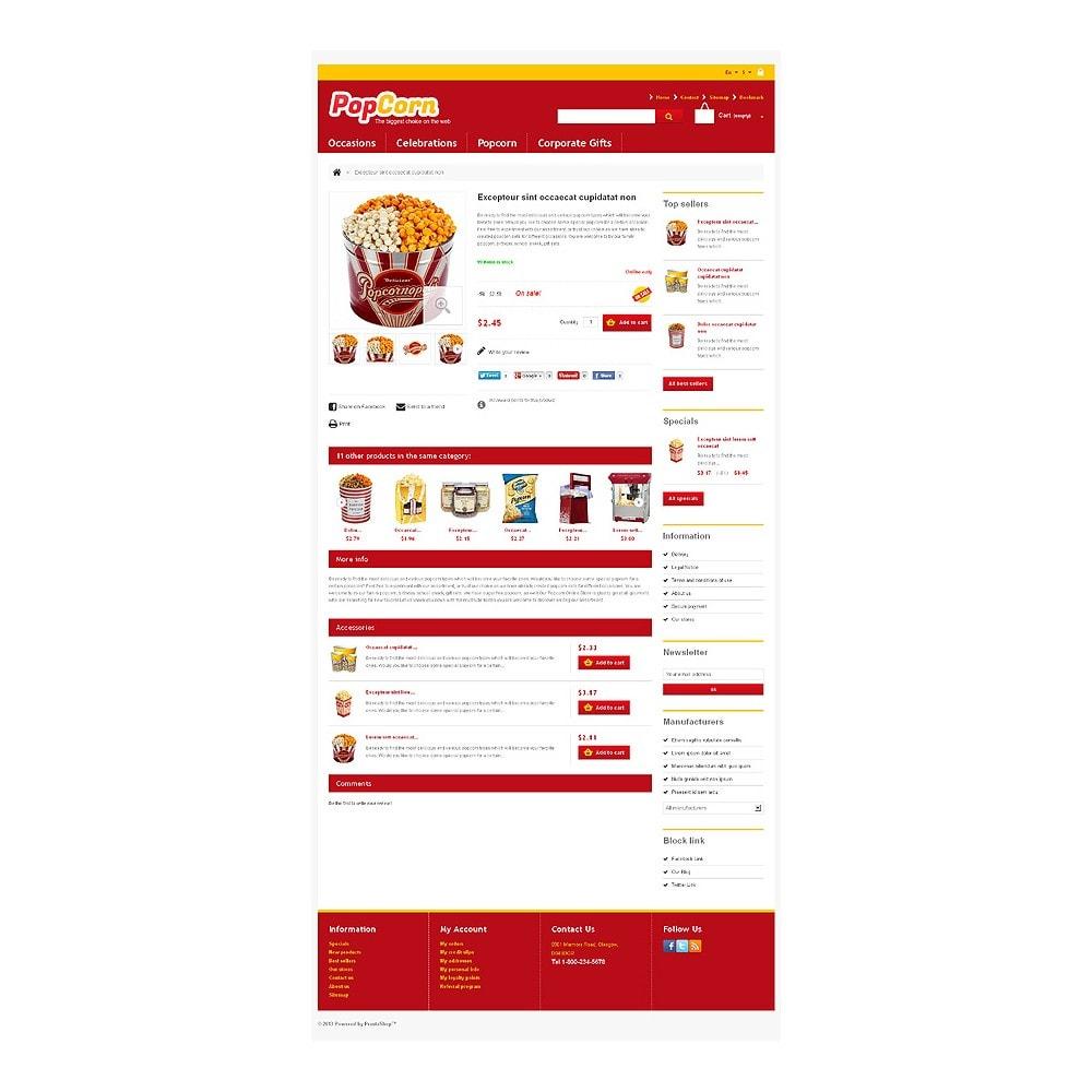 theme - Eten & Restaurant - Responsive Pop Corn Store - 7
