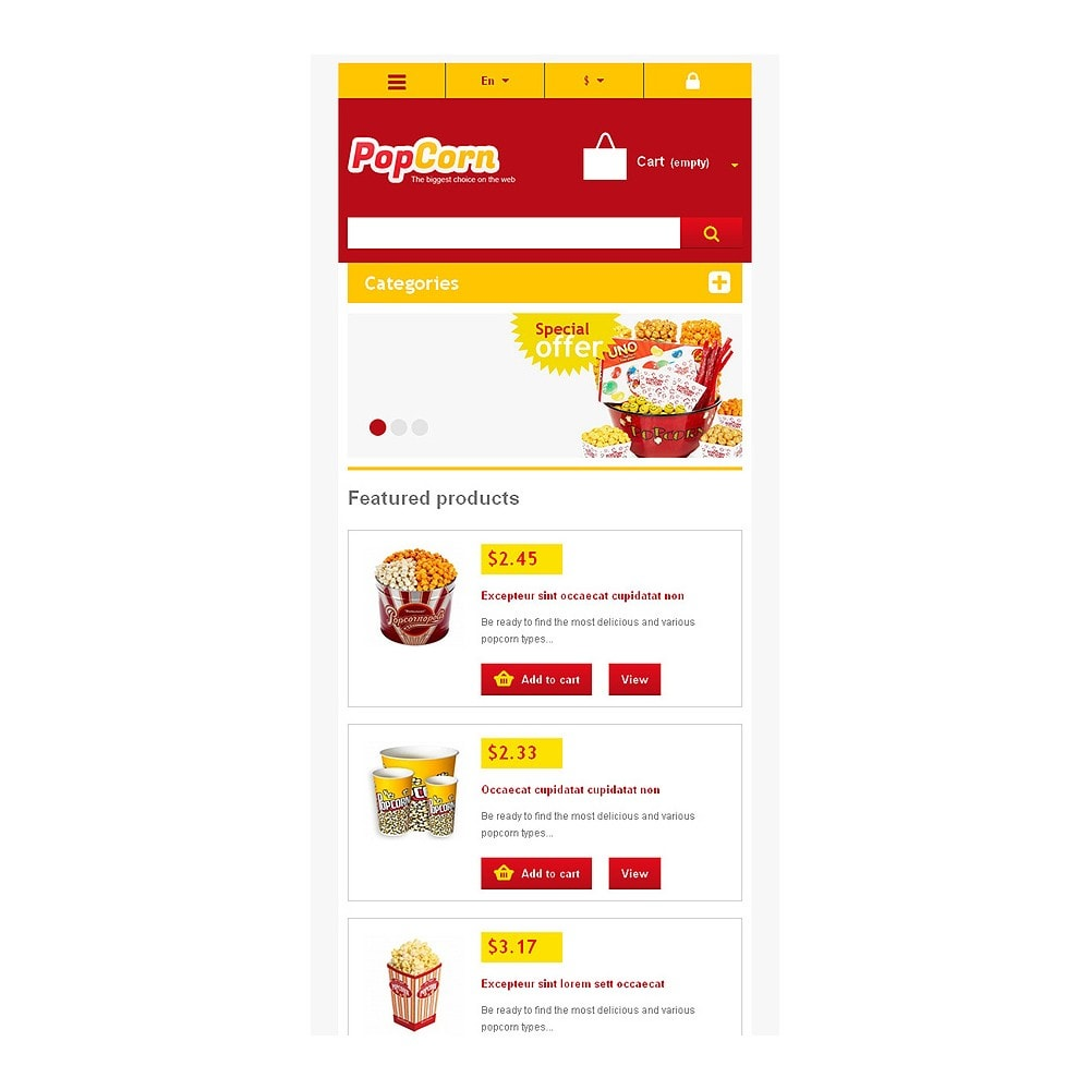 theme - Eten & Restaurant - Responsive Pop Corn Store - 9
