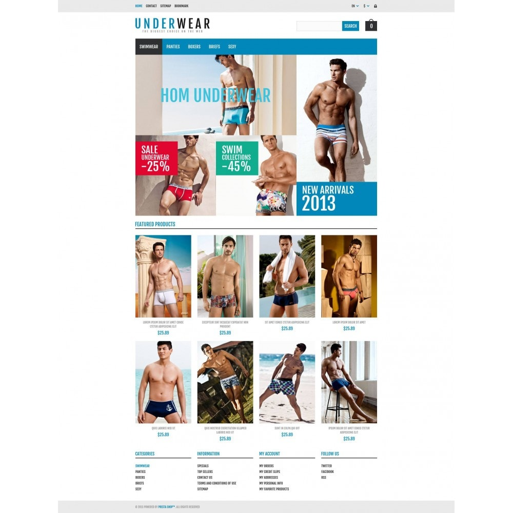 theme - Moda & Calçados - Responsive Underwear Store - 4