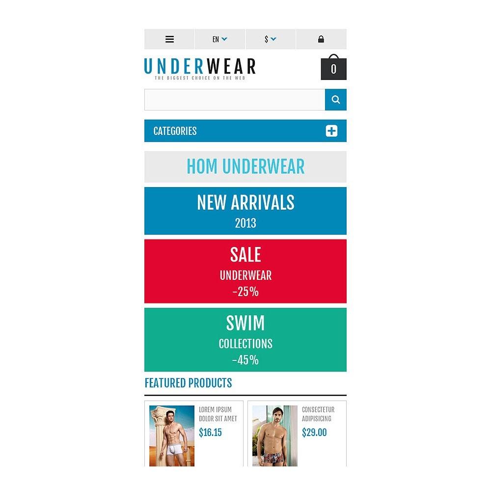 theme - Moda & Calçados - Responsive Underwear Store - 8
