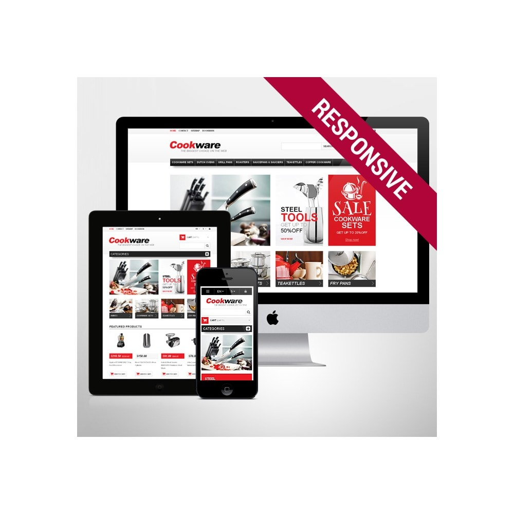 theme - Art & Culture - Responsive Cookwear Store - 1