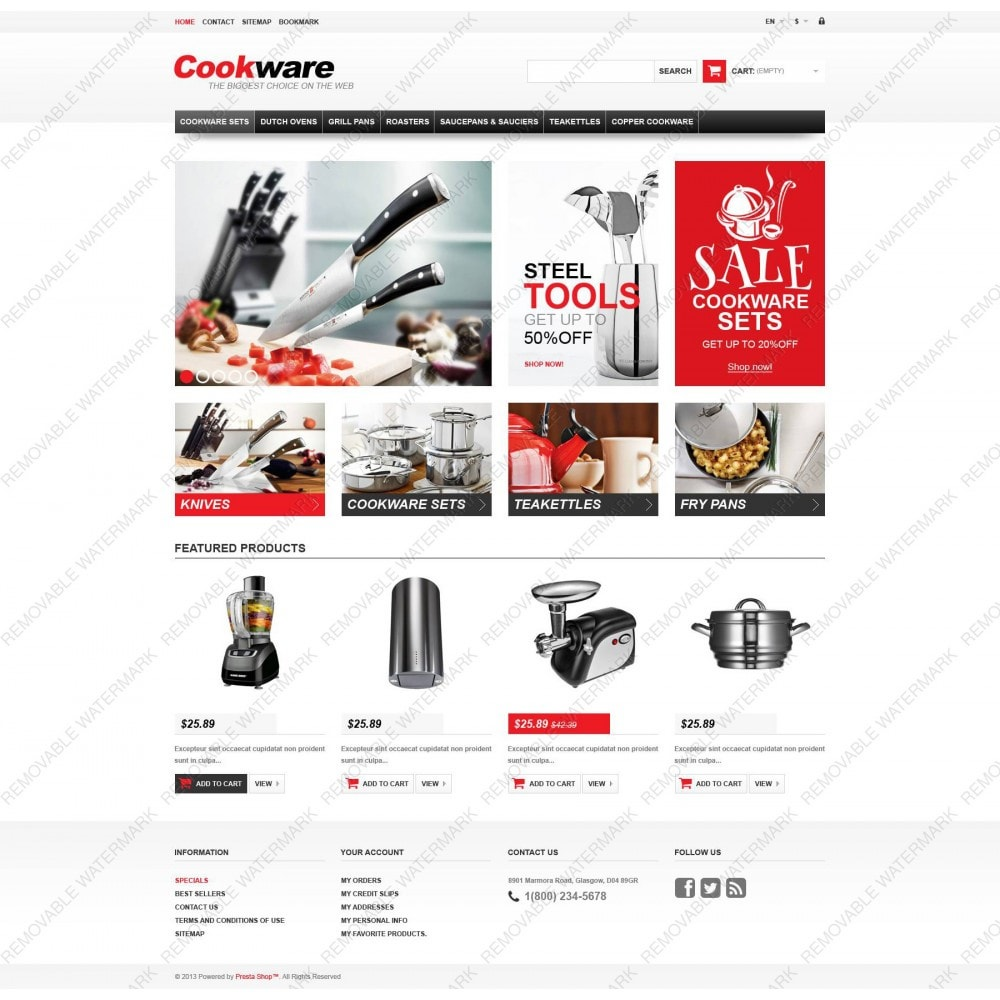 theme - Art & Culture - Responsive Cookwear Store - 3