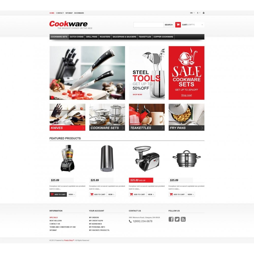 theme - Art & Culture - Responsive Cookwear Store - 4