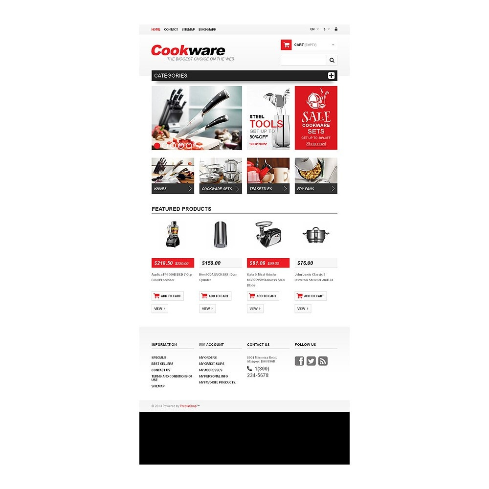 theme - Art & Culture - Responsive Cookwear Store - 7