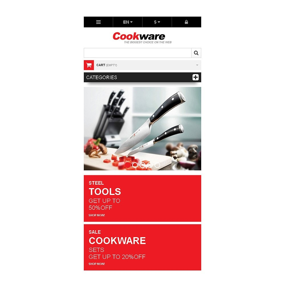 theme - Art & Culture - Responsive Cookwear Store - 8
