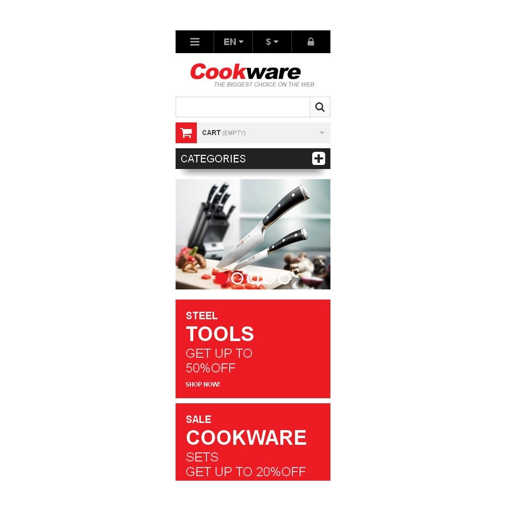 theme - Art & Culture - Responsive Cookwear Store - 9