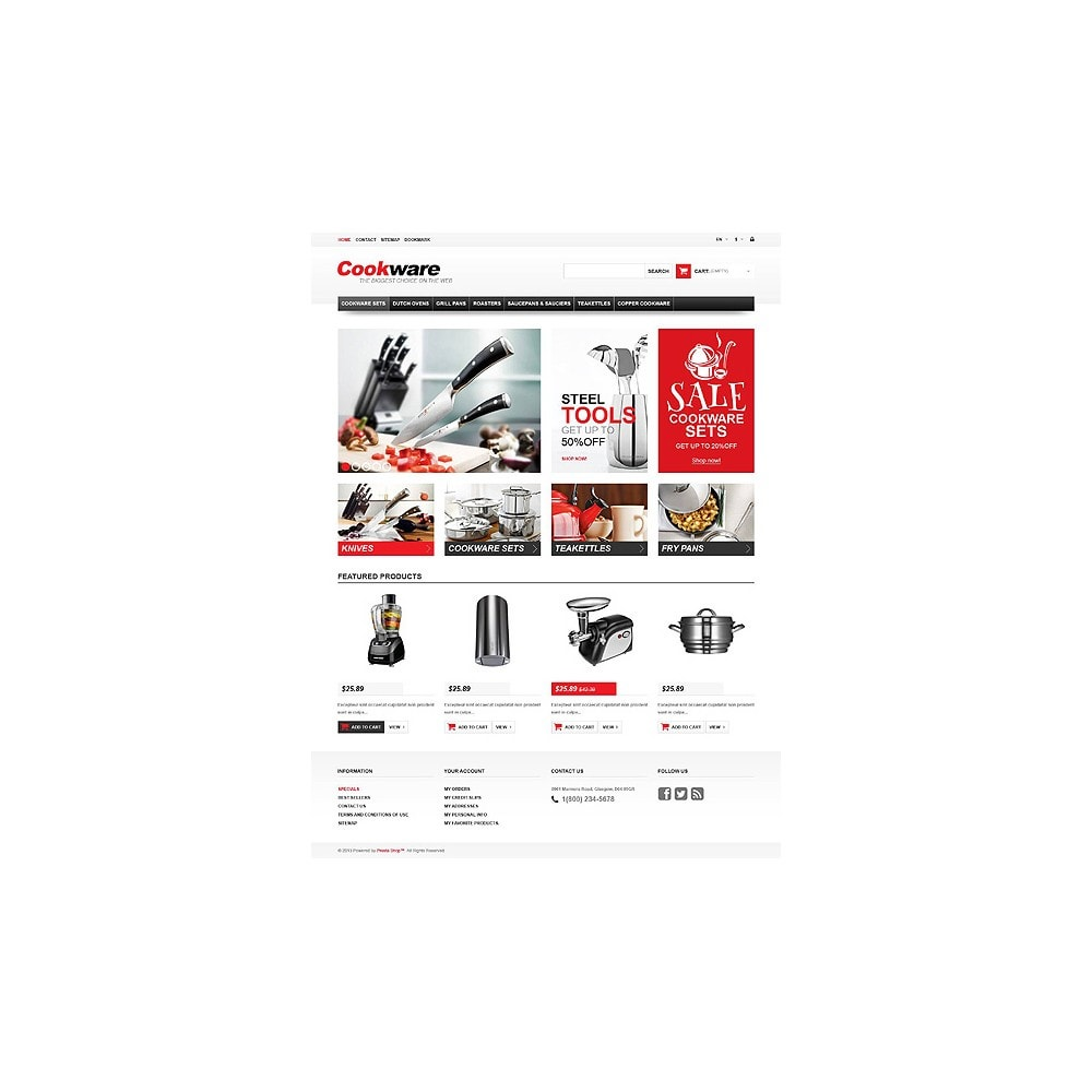 theme - Art & Culture - Responsive Cookwear Store - 10