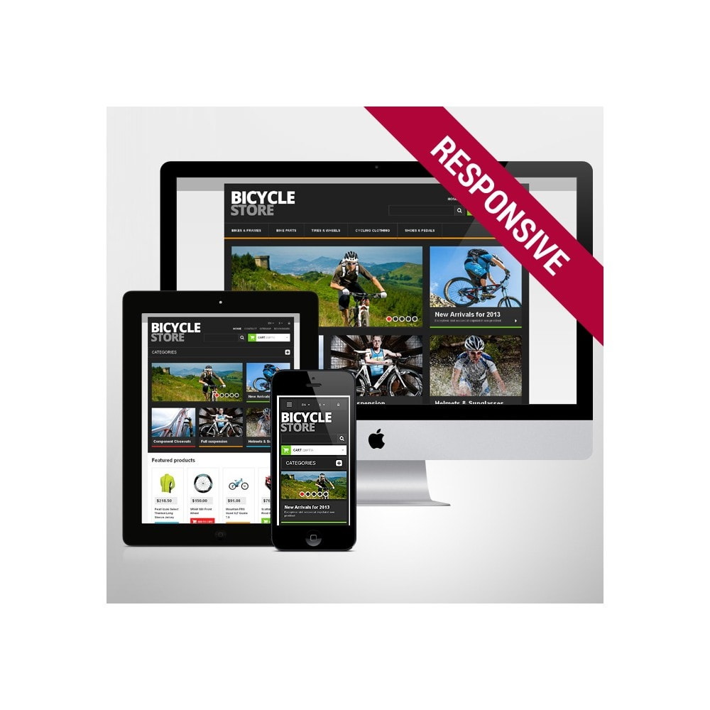 theme - Sports, Activities & Travel - Responsive Bicycle Store - 1