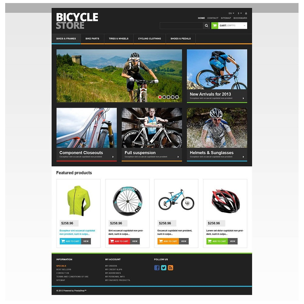 theme - Sports, Activities & Travel - Responsive Bicycle Store - 2