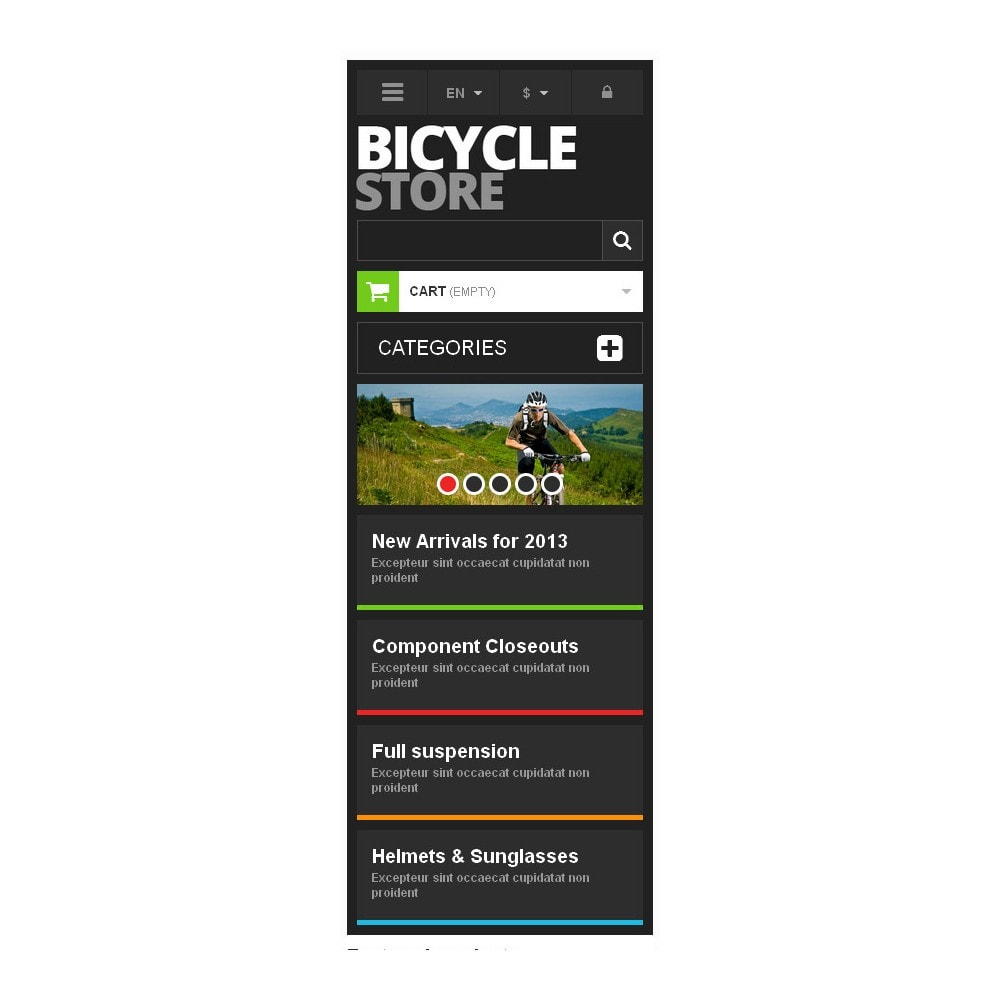 theme - Sports, Activities & Travel - Responsive Bicycle Store - 9