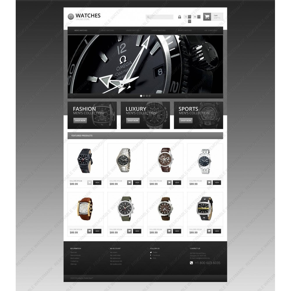 theme - Mode & Chaussures - Responsive Watch Store - 5