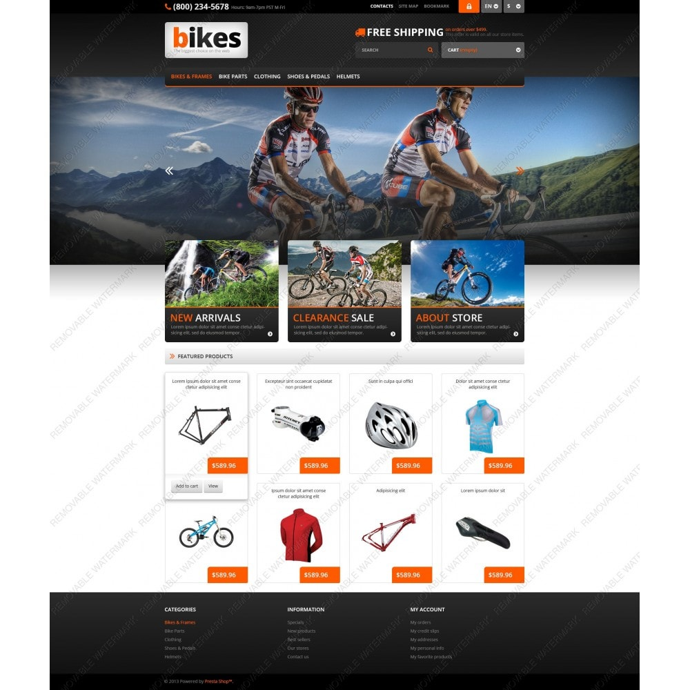theme - Sport, Aktivitäten & Reise - Responsive Bikes Store - 5