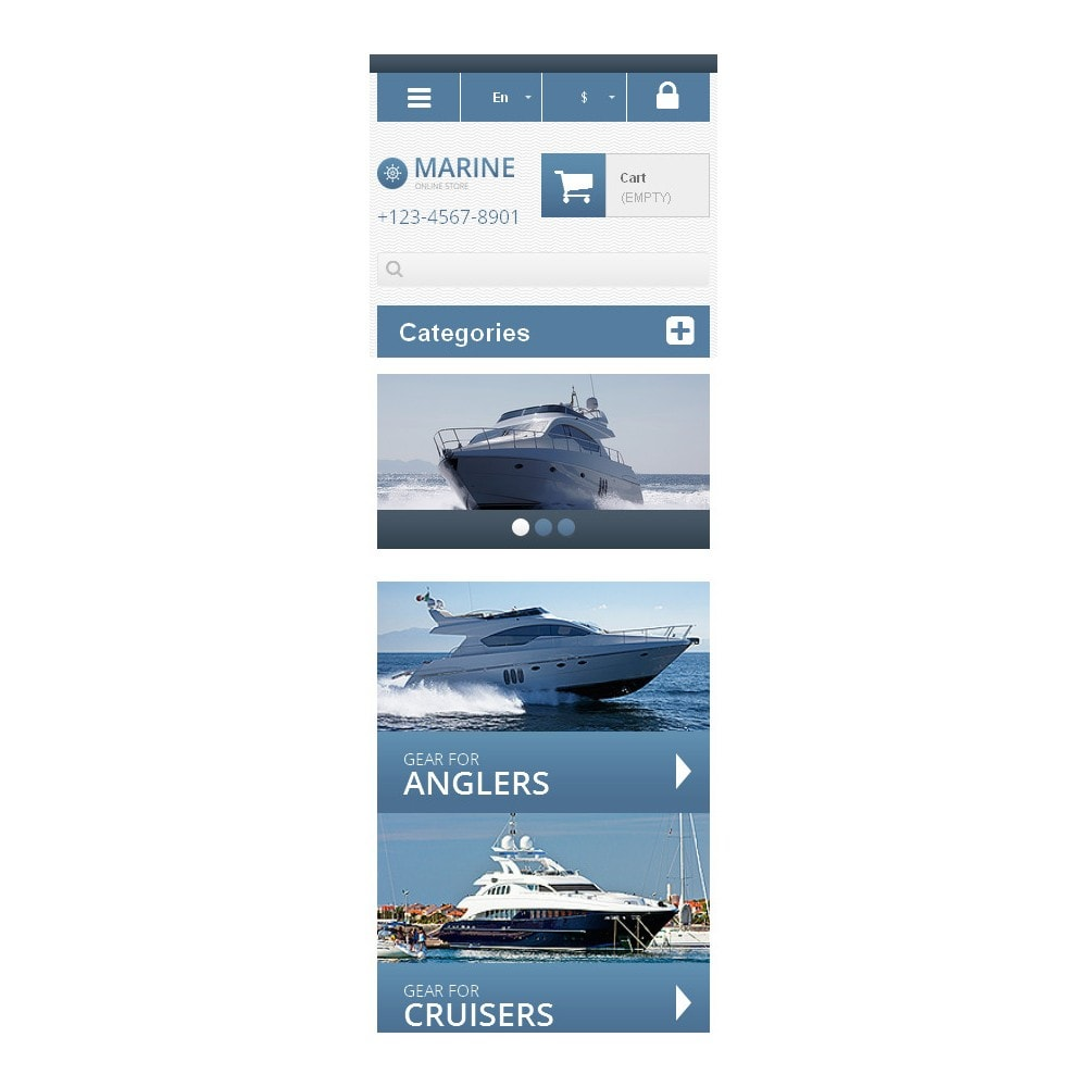 theme - Спорт и Путешествия - Responsive Marine Store - 6
