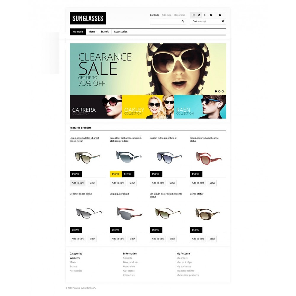 theme - Mode & Chaussures - Responsive Sunglasses Store - 2