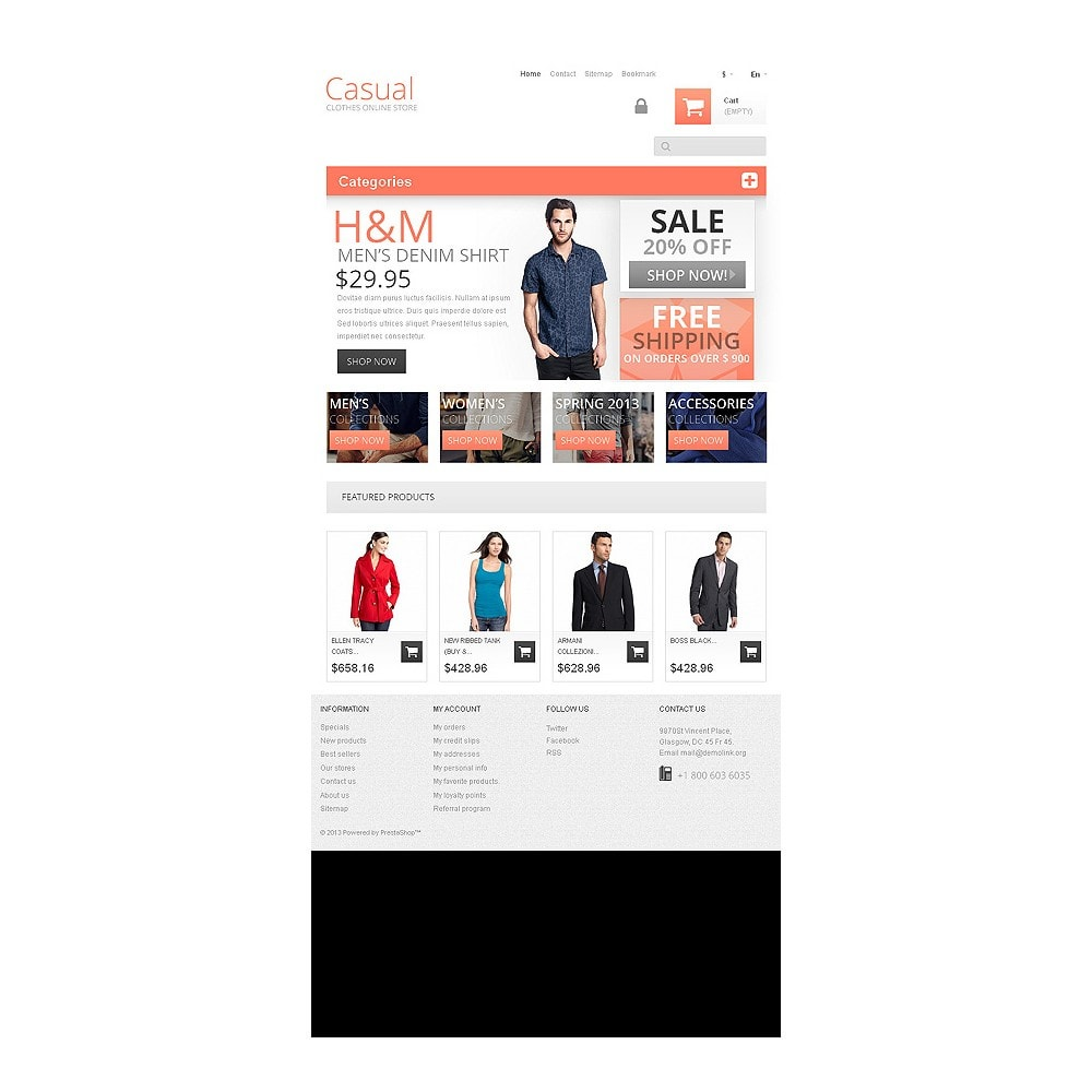 theme - Fashion & Shoes - Casual Clothes Store - 8