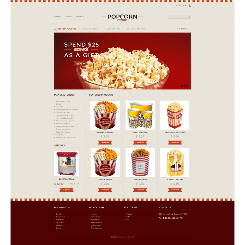 theme - Alimentos & Restaurantes - Responsive Popcorn Store - 4