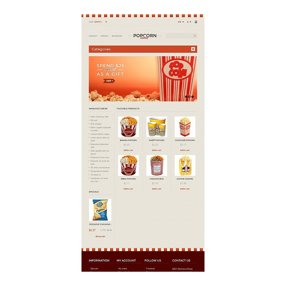 theme - Lebensmittel & Restaurants - Responsive Popcorn Store - 7