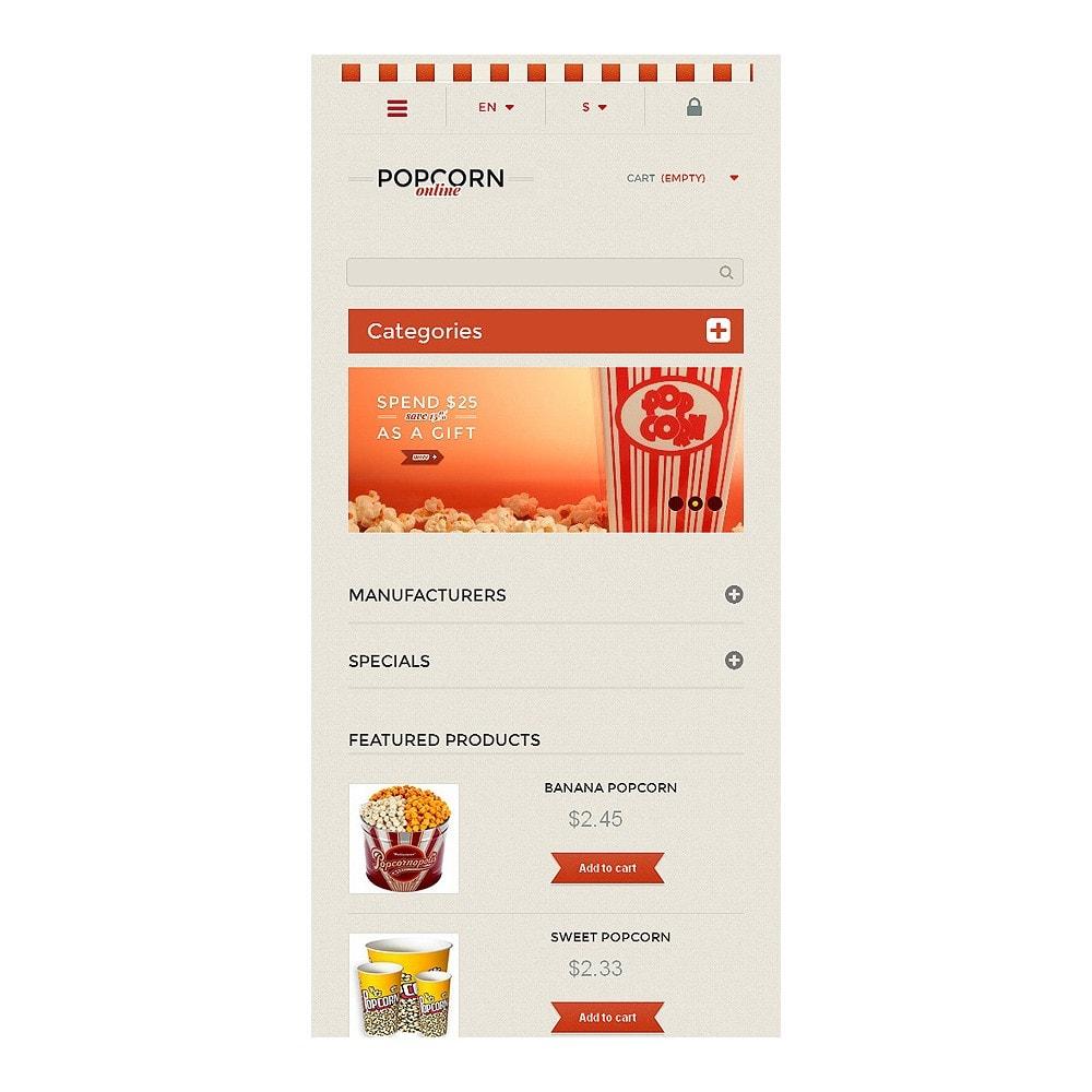 theme - Lebensmittel & Restaurants - Responsive Popcorn Store - 8