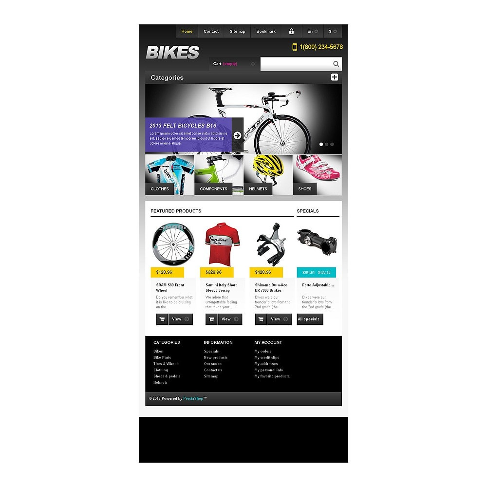 theme - Sport, Rozrywka & Podróże - Responsive Bikes Store - 7