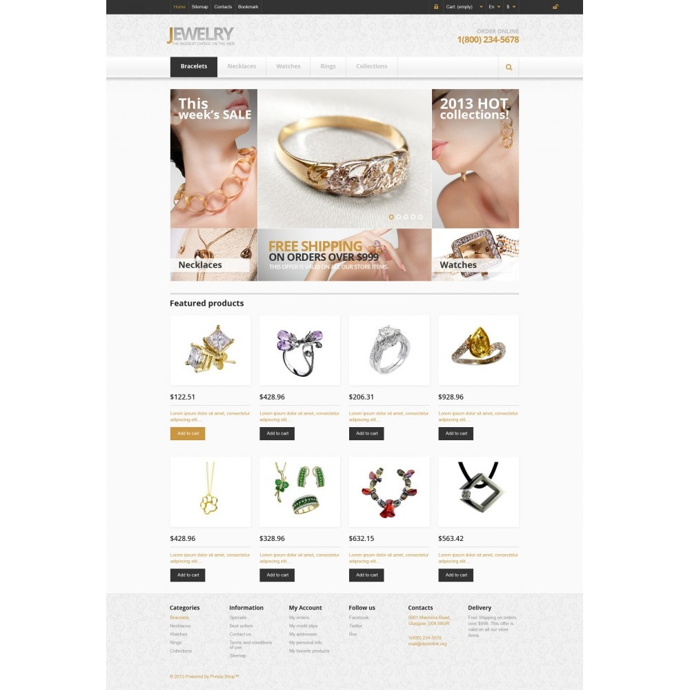 theme - Moda & Calzature - Responsive Jewelry Store - 3