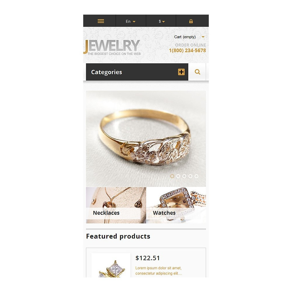 theme - Moda & Calzature - Responsive Jewelry Store - 9