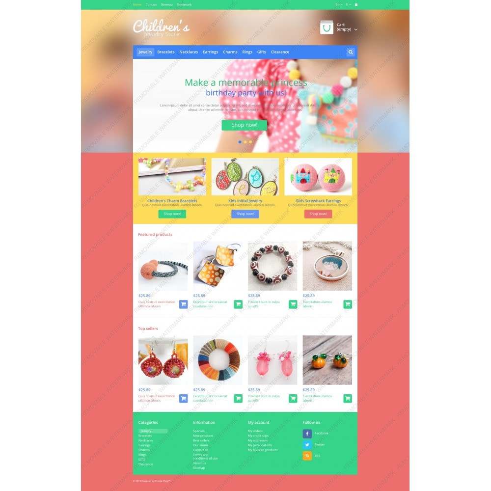 theme - Fashion & Shoes - Children's Jewelry Store - 3