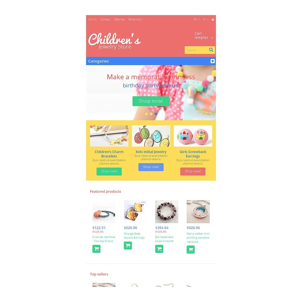 theme - Fashion & Shoes - Children's Jewelry Store - 7