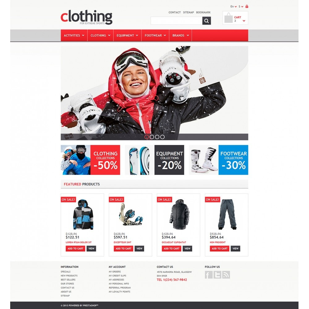 theme - Sport, Loisirs & Voyage - Responsive Clothing Store - 2