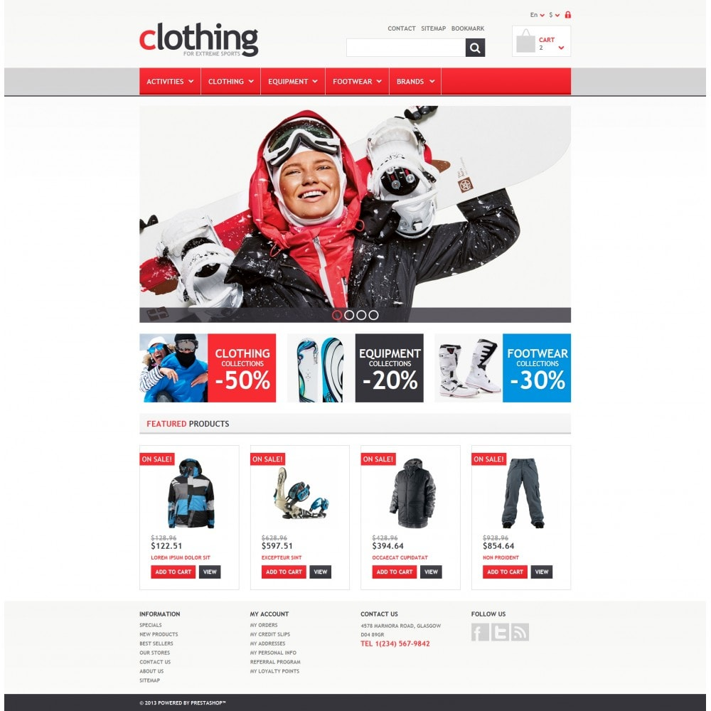 theme - Sport, Loisirs & Voyage - Responsive Clothing Store - 4