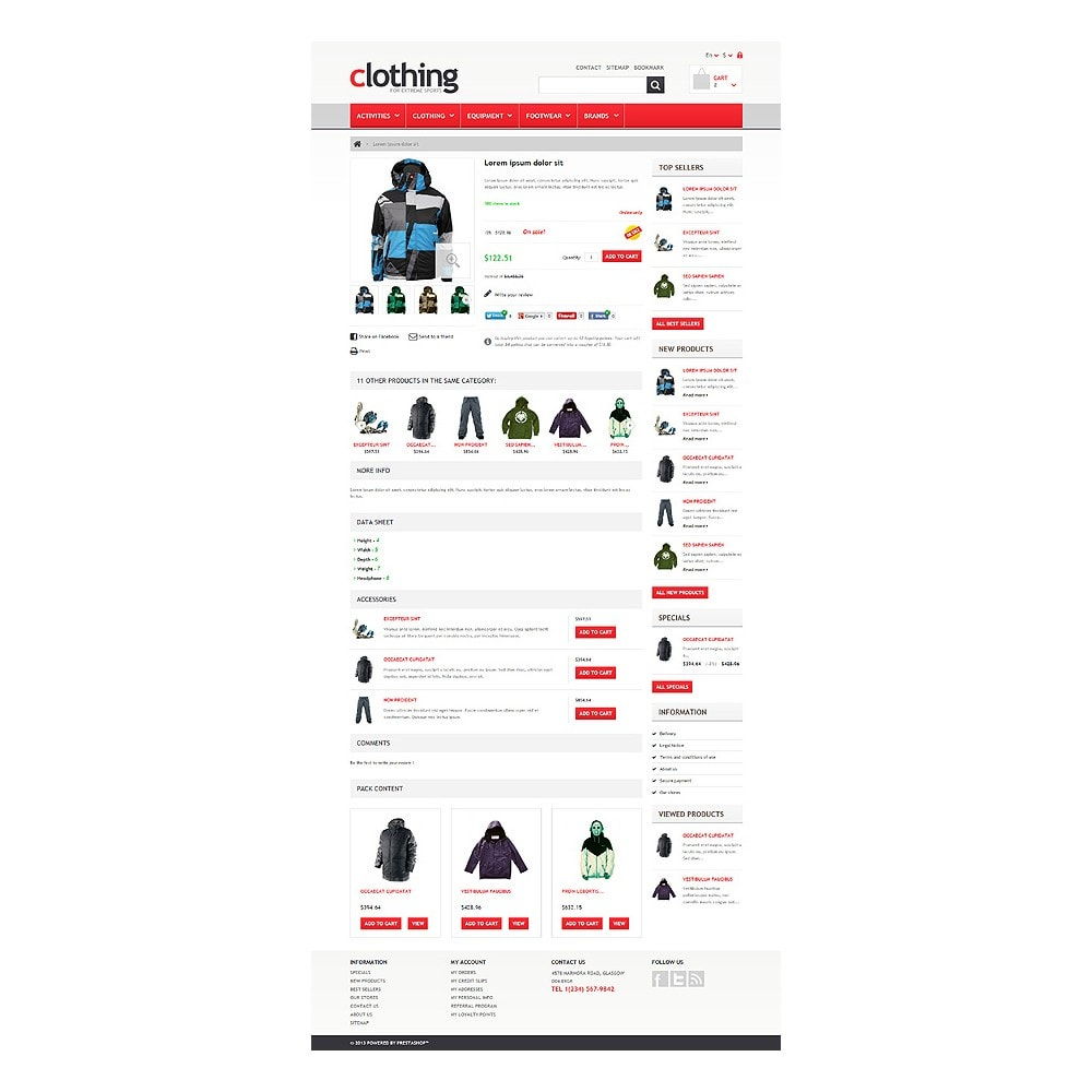theme - Sport, Loisirs & Voyage - Responsive Clothing Store - 6