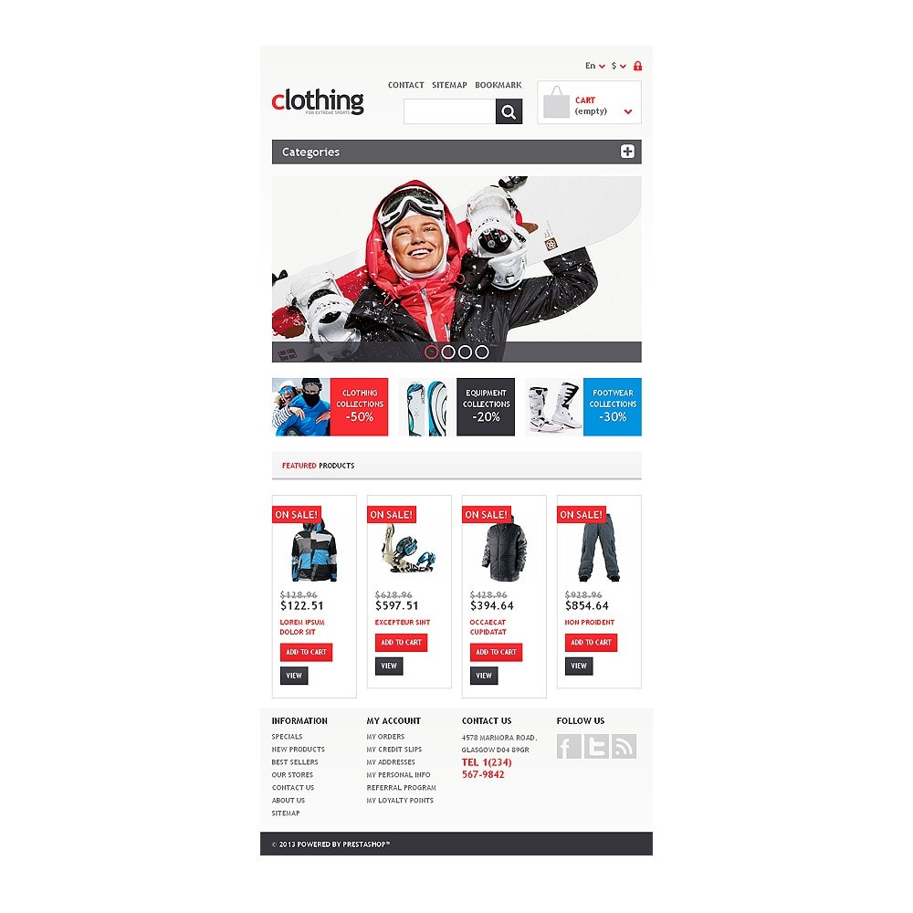 theme - Sport, Loisirs & Voyage - Responsive Clothing Store - 7