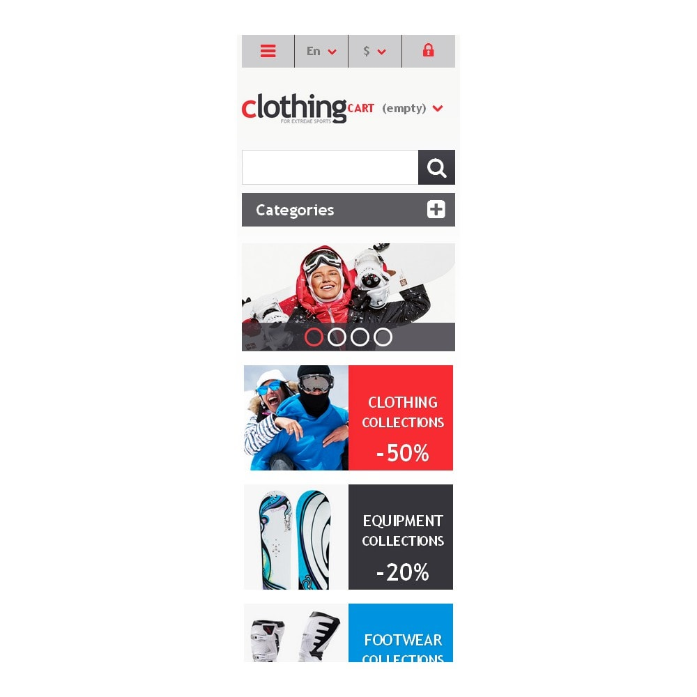 theme - Sport, Loisirs & Voyage - Responsive Clothing Store - 9