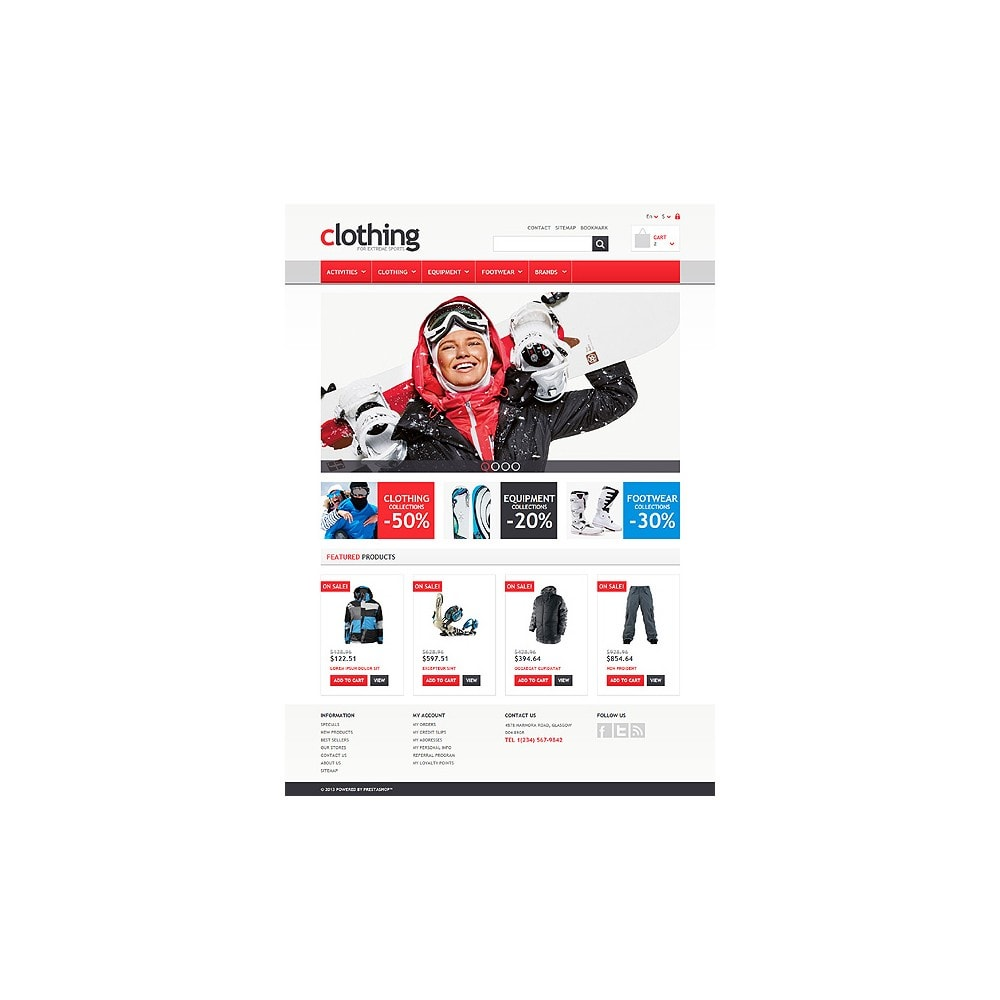 theme - Sport, Loisirs & Voyage - Responsive Clothing Store - 10