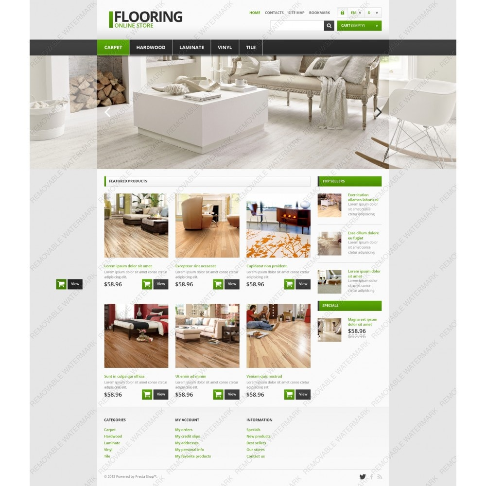theme - Arte y Cultura - Responsive Flooring Store - 3