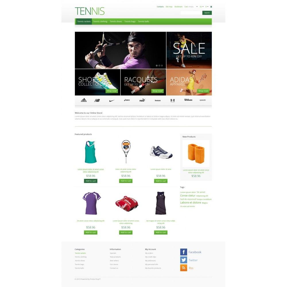 theme - Sport, Rozrywka & Podróże - Responsive Tennis Store - 4