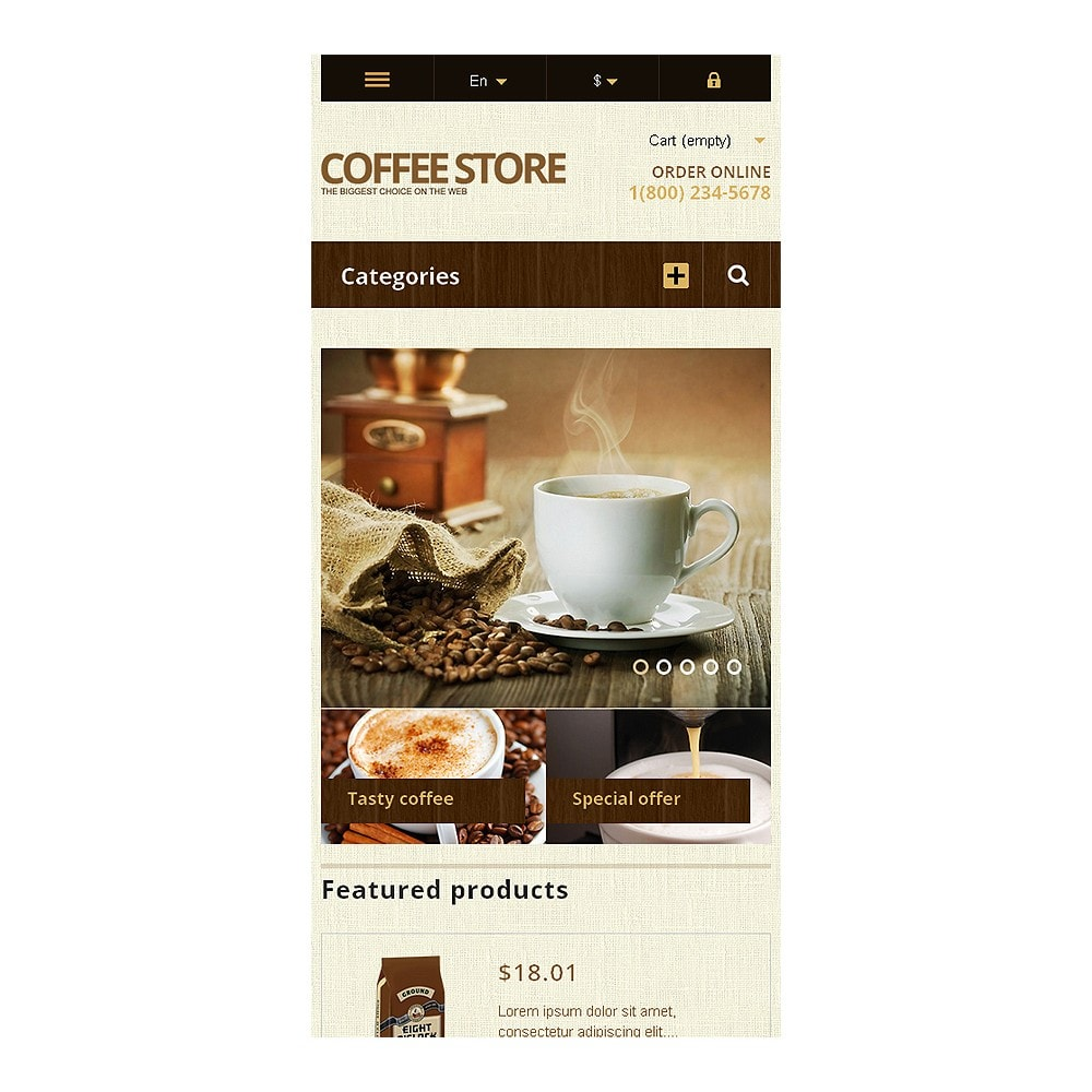 theme - Food & Restaurant - Responsive Coffee Store - 8