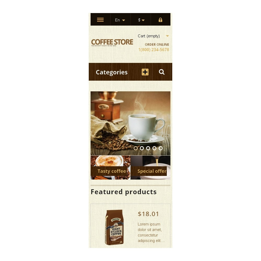 theme - Food & Restaurant - Responsive Coffee Store - 9